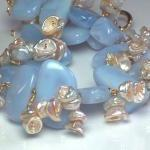 Bold Chalcedony, Keishi Pearl and S..
