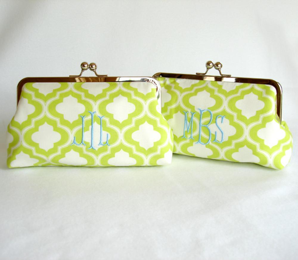 Monogram Option for Kisslock Frame Clutch Purses and Totes